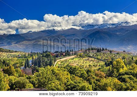 Alhambra Farm Mountains Granada Andalusia Spain