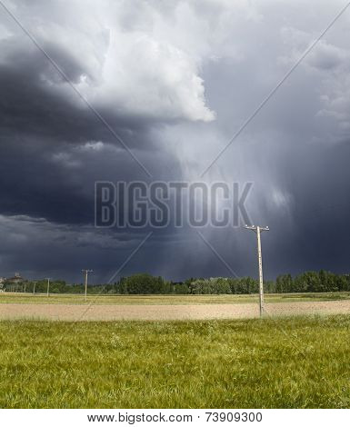 Storm in the fields