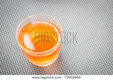 Close Up Glass Of Fresh Mix Fruit Juice