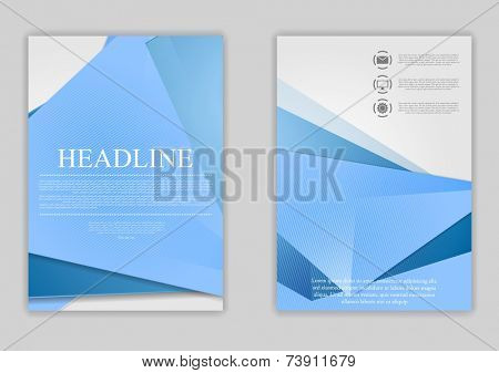 Abstract blue minimal tech flyer design. Vector template