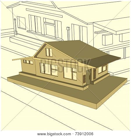 Country Cottage In Tyle 3D