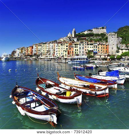 beautiful Portovenere - Ligurian coast of Italy