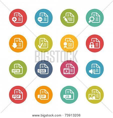Documents Icons - 1 // Fresh Colors Series ++ Icons and buttons in different layers, easy to change colors ++