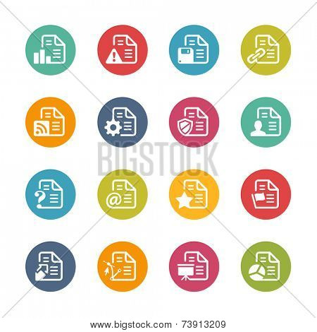Documents Icons - 2 // Fresh Colors Series ++ Icons and buttons in different layers, easy to change colors ++
