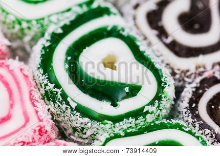 Turkish Delight Or Rahat Lokum Assortment.