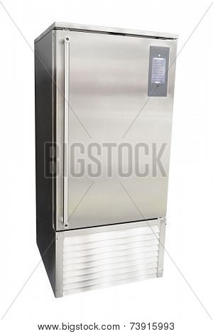 industrial Refrigerator under the white background