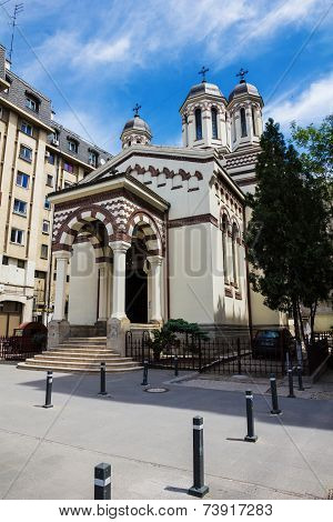 Romanian Orthodox Monastery In Bucharest