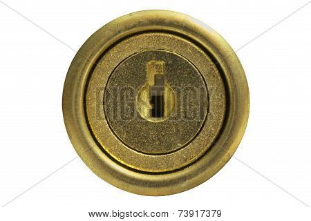 Golden key hole