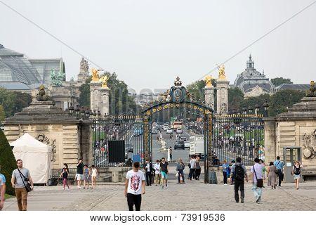 Entrance gate - Les Invalides complex Paris France