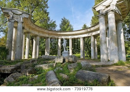 Apollo Colonnade In Pavlovsk Park, Saint Petersburg, Russia