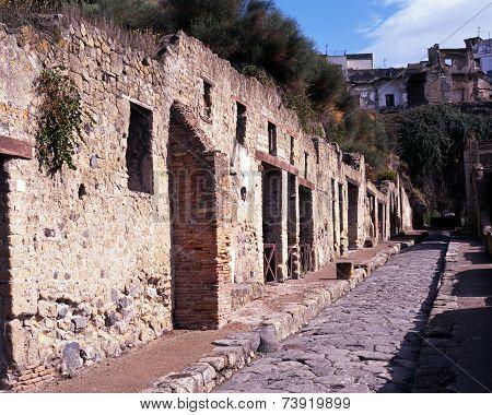 Roman street, Herculaneum.