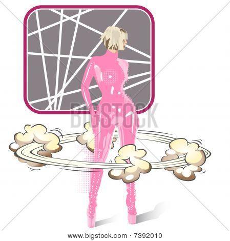 Latex pink woosh