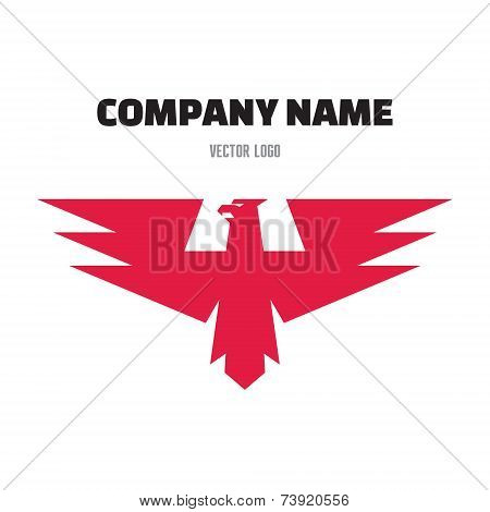 Eagle Abstract Sign for Business Company - vector logo template