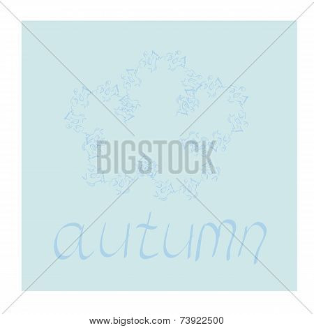 Abstract autumn background with easy flower