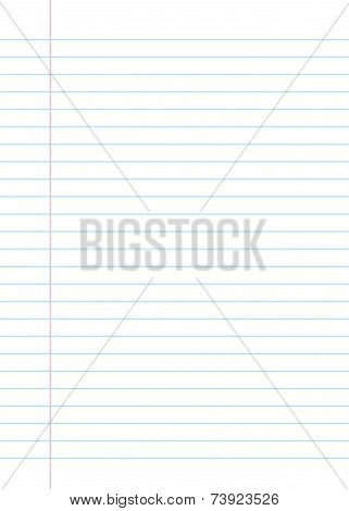 Lined Paper From A Notebook