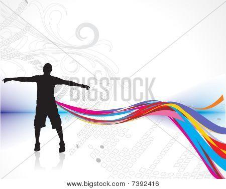 hombre levantando sus manos