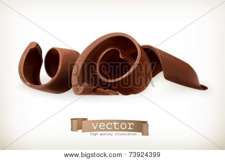 Chocolate shavings, vector illustration