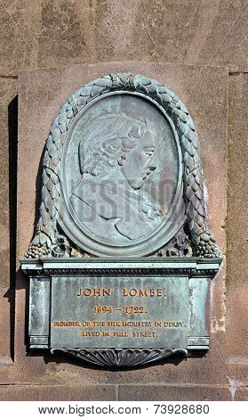 John Lombe plaque, Derby.