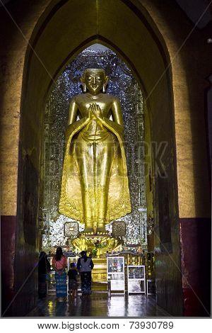 Kassapa Buddha In Ananda Temple, Bagan, Myanmar