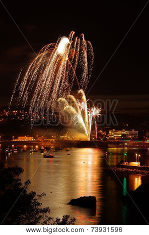 Firework Display at Torquay