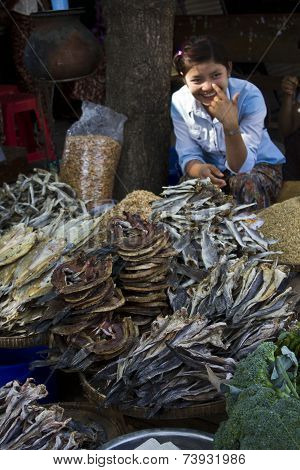 Street Market In Myanmar