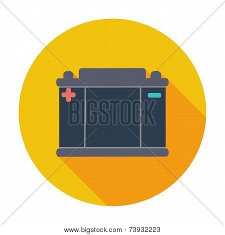 Battery flat icon.
