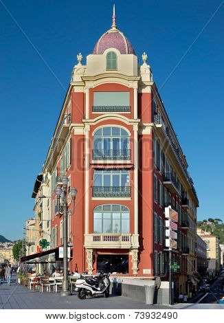 City Of Nice - Architecture Of Buildings On The Place Massena