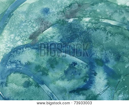 Cool blue watercolor background