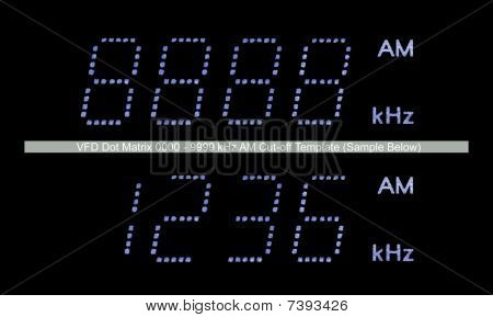 Vfd Dot Matrix Am Radio Display Macro In Blue