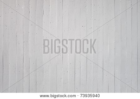 White wall of exposed concrete