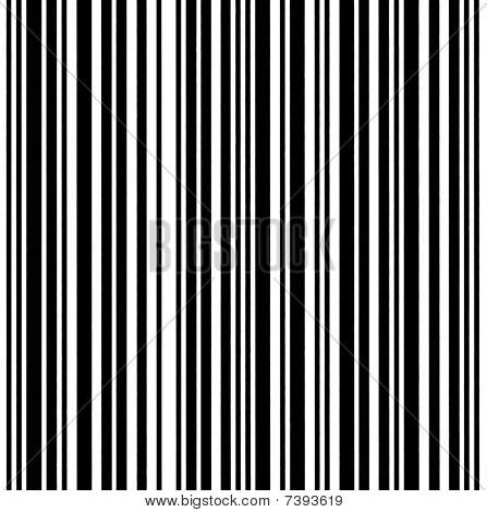 Large Barcode Background Macro Closeup Isolated On White