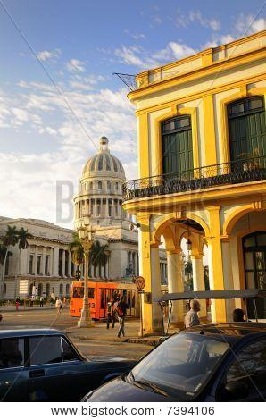 Habana Buildings And Capitolio Dome. Feb 2010.