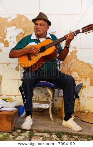 Traditional Musician In Trinidad Street, Cuba. Oct 2008