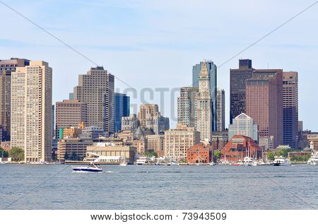 Boston Harbor Skyline, USA