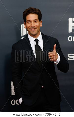 NEW YORK-OCT 15: Actor Jon Bernthal attends the world premiere of