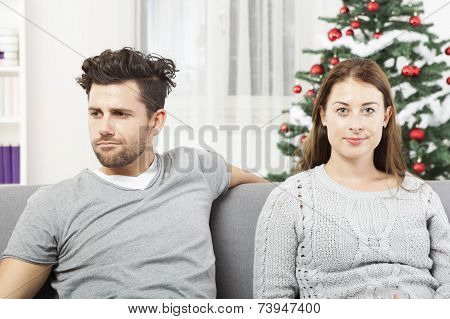 Couple Is Irritated Of Christmas