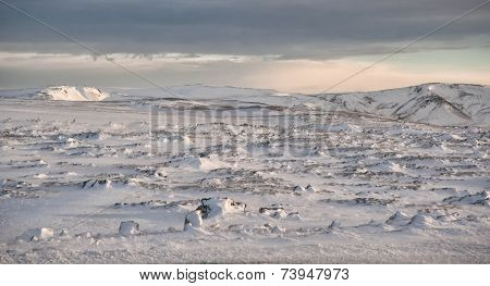 Snow Fields Of Iceland