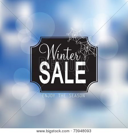 Vector Winter Sale Poster
