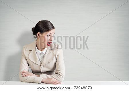 Emotional businesswoman