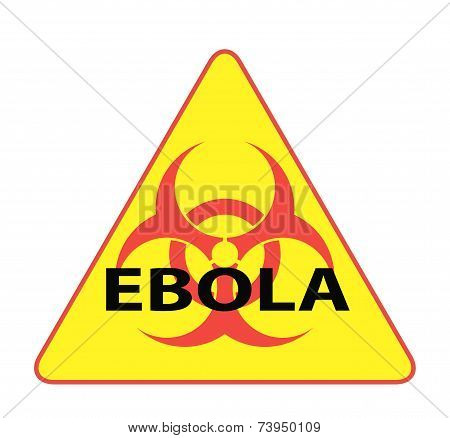 Ebola Biohazard Virus Danger Sign With Reflect And Shadow On White Background. Isolated Vector Warni