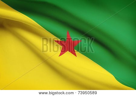 Flag Blowing In The Wind Series - French Guiana