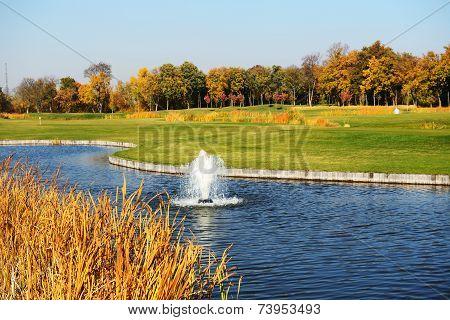 Novi Petrivtsi, Ukraine - October 14: Golf Course In Mezhigirya On October 14, 2014 In Novi Petrivts