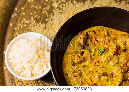 Chicken curry with rice