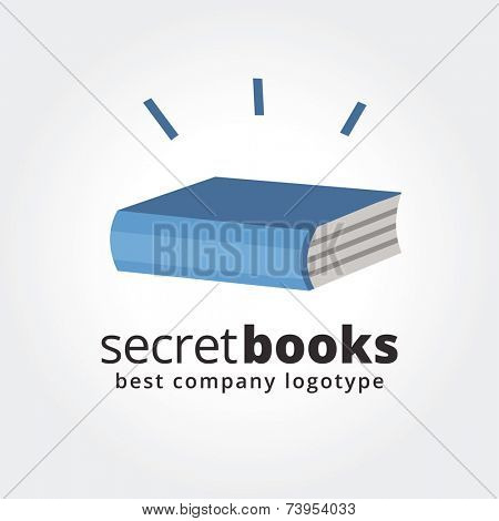 Abstract book logo icon concept isolated on white background for business design. Key ideas is business, education, books, school, paper, design. Concept for corporate identity and branding. Stock
