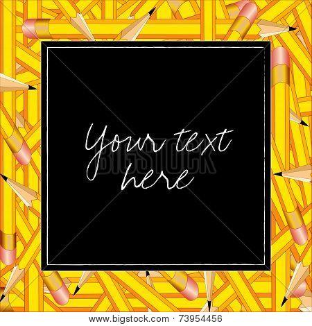 Pencils Frame, square