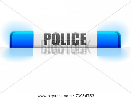 detailed illustration of a police flashing light, eps10 vector