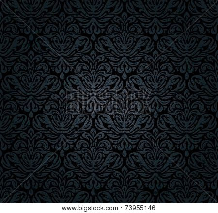 Black, grunge, luxury, vintage, decorative background