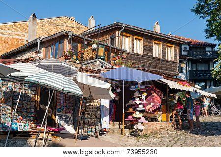 Small Souvenir Shops In Old Nessebar,  Bulgaria