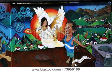 Murals of Balmy Alley, San Francisco, California, USA