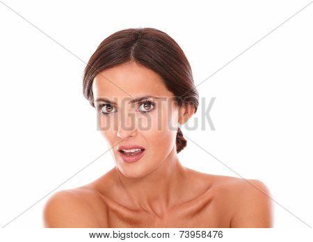 Stylized Latin Woman Looking At Camera